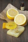 Различные естественные мыла стоковое изображение