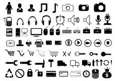 Различные значки на белой предпосылке Стоковая Фотография RF