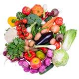 Различные зрелые изолированные овощи Стоковые Фото