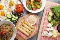 Различные ливанские плиты Стоковое Фото