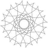 Различные линейные геометрические объекты Случайные пересекая линии fo бесплатная иллюстрация