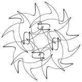 Различные линейные геометрические объекты Случайные пересекая линии fo иллюстрация вектора