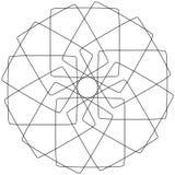 Различные линейные геометрические объекты Случайные пересекая линии fo иллюстрация штока