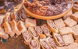 Различные и очень вкусные словенские десерты Стоковые Изображения RF