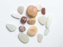 Различные камни на белой предпосылке Стоковые Изображения