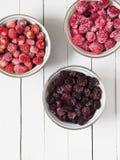 Различные, который замерли ягоды в шаре Стоковое Изображение