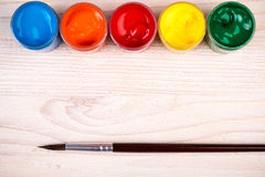 Различные краски цвета с щеткой Стоковые Фотографии RF