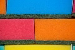 Различные красочные пусковые площадки губки Стоковое фото RF