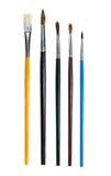 Различные модели щеток для красить Стоковая Фотография RF