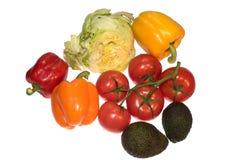Различные овощи изолированные на белой предпосылке Стоковая Фотография
