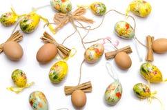 Различные пасхальные яйца Стоковые Изображения