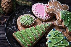 Различные печенья имбиря Стоковое Фото