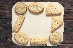 Различные печенья shortbread Стоковое Изображение
