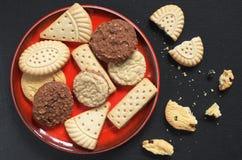 Различные печенья shortbread Стоковые Фотографии RF