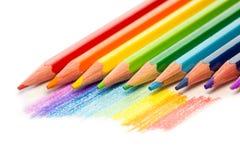 Различные покрашенные карандаши Стоковые Фото