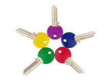 Различные покрашенные ключи Стоковые Фотографии RF