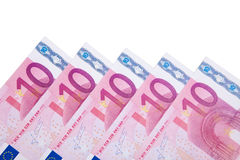 Различные 10 примечаний евро Стоковые Фотографии RF