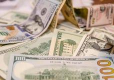 Различные примечания доллара Стоковое Изображение