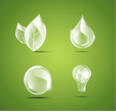 Прозрачные установленные иконы Стоковые Фото