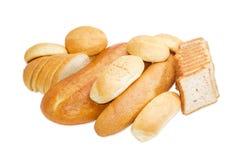 Различные продукты хлебопекарни на светлой предпосылке Стоковые Изображения