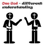 Различные религиозные веры Стоковое фото RF