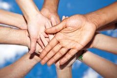 Различные руки Стоковая Фотография