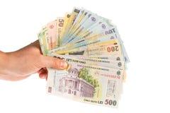 Различные румынские банкноты Стоковое фото RF
