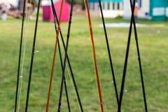 Различные рыболовные удочки Стоковые Фотографии RF