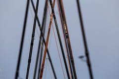Различные рыболовные удочки Стоковые Изображения RF
