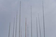 Различные рыболовные удочки Стоковые Фото