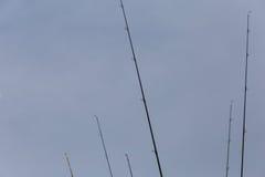 Различные рыболовные удочки Стоковое Фото