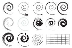 Различные свирли вектора Стоковое Фото