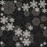 Различные серые грязные снежинки на темноте Стоковая Фотография RF