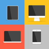 Различные современные личные устройства Стоковое Изображение RF