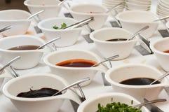Различные соусы стоковые фотографии rf