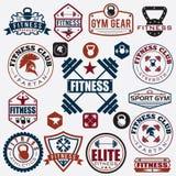 различные спорт и значки фитнеса и элементы дизайна Стоковое Фото