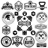 различные спорт и значки фитнеса и элементы дизайна Стоковые Изображения