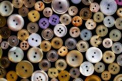 Различные старые кнопки стоковое фото