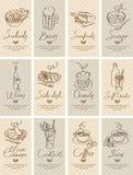 Различные тарелки Стоковые Фотографии RF