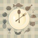 Различные тарелки Стоковое Изображение RF