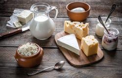 Различные типы молочных продучтов Стоковое Изображение