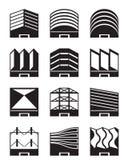 Различные типы промышленных крыш бесплатная иллюстрация