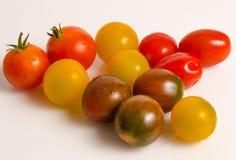 Различные типы томатов вишни стоковое фото
