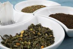 Различные типы чая Стоковые Изображения