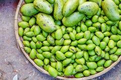Различные товары в бирманском рынке, Мьянме Стоковая Фотография RF