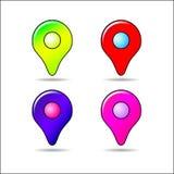 Различные указатели GPS иллюстрация штока