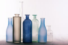 Различные установленные бутылки Стоковое фото RF