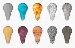 различные установленные светильники иллюстрация вектора