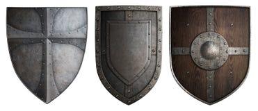 Различные установленные экраны рыцарей крестоносцев изолировали иллюстрацию 3d бесплатная иллюстрация