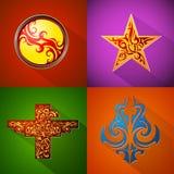 Различные установленные эмблемы Стоковое Изображение RF
